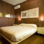 Camera da letto con boiserie